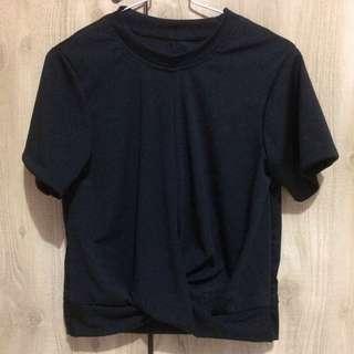 Baju blouse atasan black NEW