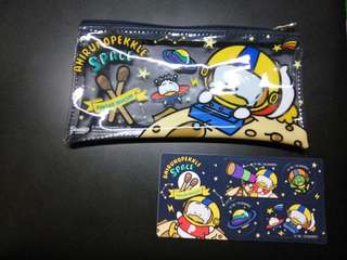 Sanrio Pekkle 小袋+貼紙