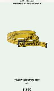 Off white industrial belt replica