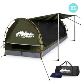 King Single Size Dome Canvas Tent - Cream