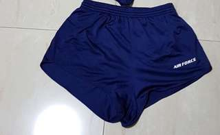 RSAF Air Force Dryfit Running Short (Size M) possible to exchange with the Air Force short with side pockets