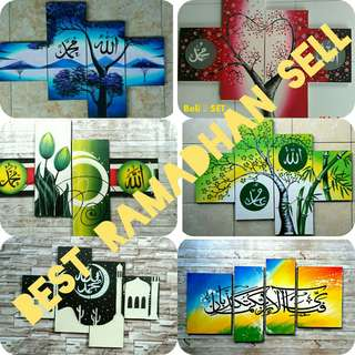 RAMADHAN SELL - ART PAINTING REAL-HAND BEAUTIFUL
