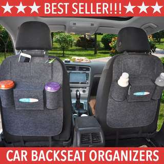 *Ready-Stocks!!!* Multi-Purpose Car Back Seat Organizer Storage Holder. Multi Pockets For Phone / Food / Drink / Bottle Storage. Car Accessories Bag.