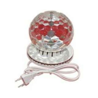 RGB Crystal LED flower Rotate disco light for Party&home