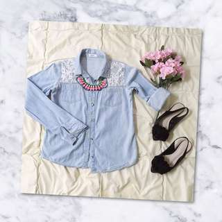 Lace Denim Shirt