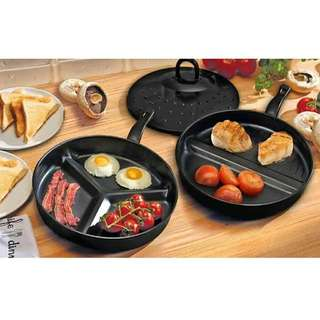 3 in 1 Premier Divide Wonder Tri-Pan Cooking Set