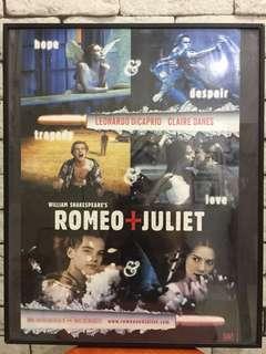 Romeo & Juliet poster in frame