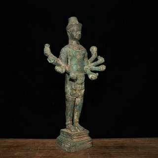 古寺廟結緣 老青銅千手佛 供奉佛像