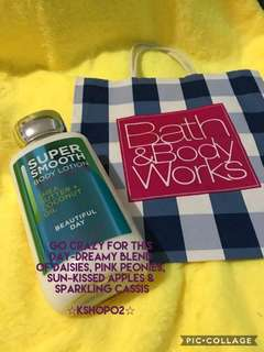 original bath and body works usa super smooth body lotion in new packaging