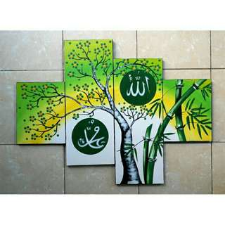 LUKISAN DINDING RAMADHAN SELL ART PAINTING REAL-HAND BEAUTIFUL