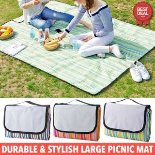 *New!!!* Large Picnic Mat. Portable Folding Waterproof Beach Picnic Mat. Large Size, 200cm x 150cm. High Quality & Easy to Wash