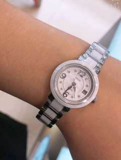 施華洛水晶8粒💕鐵達時女裝陶瓷錶