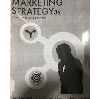 Marketing Strategy - A decision focused approach