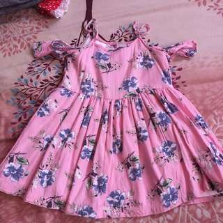 Little miss Cold shoulder dress for kids