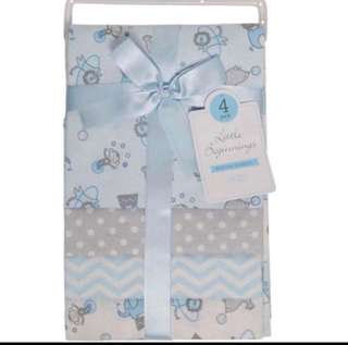 Brand New Little Beginnings Receiving Blankets For Baby Boy