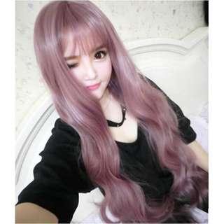 Hair Wig Murah PREMIUM HAIR WIG YAM COLOUR LIGHT PURPLE WIG COSPLAY WIG ANIME WIG RAMBUT PALSU MURAH WIG CANTIK WIG MURAH PREMIUM THICK WIG