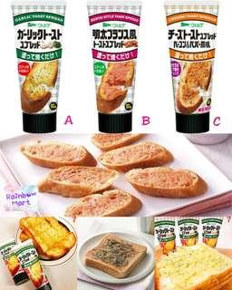 日本香蒜/明太子/芝士風味唧唧吐司醬