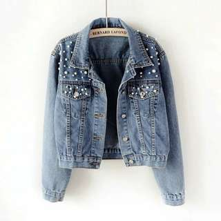 Jean + chain jacket high quality for women ( price contact me)
