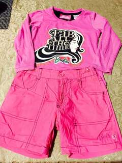 Barbie Pull Over and Shorts