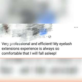 Gel Nail & eyelashes extension customer give comment 4
