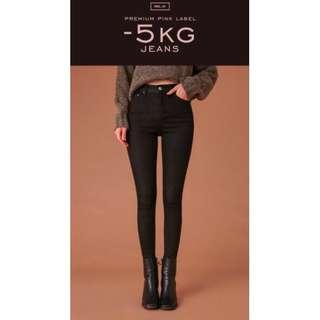 🚚 穿ㄧ次,-5 kg jeans百搭復古高腰顯瘦長褲(chuu vol.1)窄管 鉛筆褲
