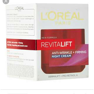 Loreal Night Cream Revitalift Anti Winkle Firming Cream