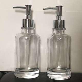 $60/2 玻璃泵樽Glass dispenser全新