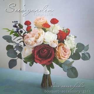 歐式新娘絲花花球wedding bouquet