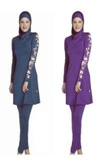 Muslimah swimwear instock blue size 6XL and 5XL