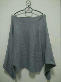 Grey Batwing Top/sweater