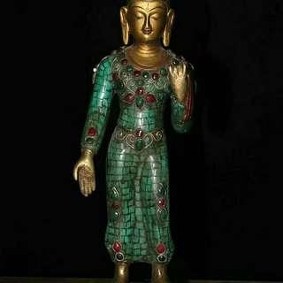 站如來釋迦摩尼像供養佛像