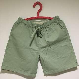 🚚 休閒短褲/純棉/湖綠色🌵