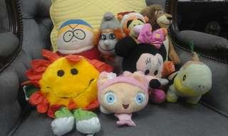 8pcs Character Soft Toys