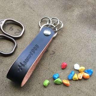 軒窗革藝-手工皮革- 鑰匙圈 手作 植鞣 鉻鞣 訂製 客製化 文創 文青