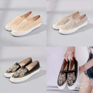 Women's flat Shoes KENZO PARIS Tiger Logo # 319-1255