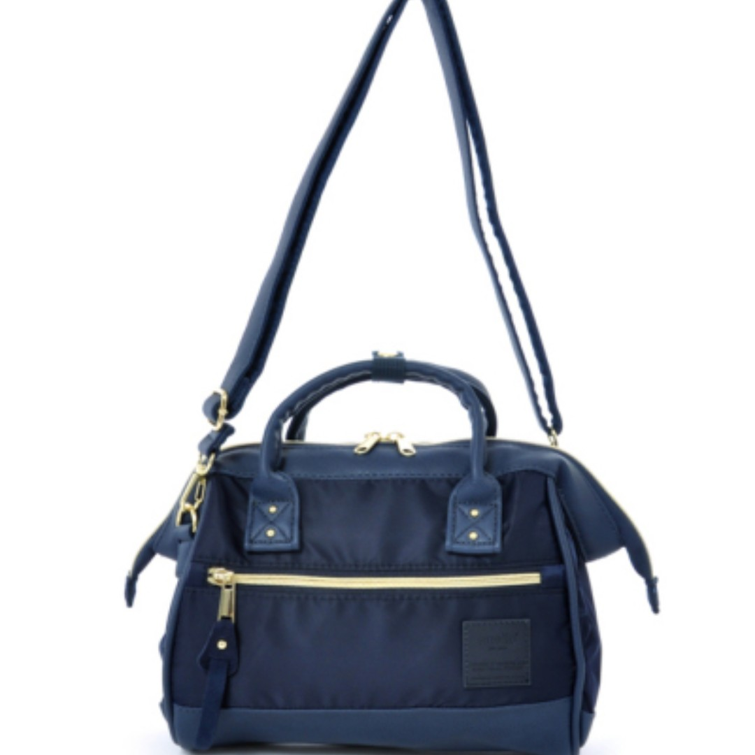0d21fdae26c AT-H1241 [Anello] Navy High Density Nylon Mini Shoulder Bag 100% AUTHENTIC !