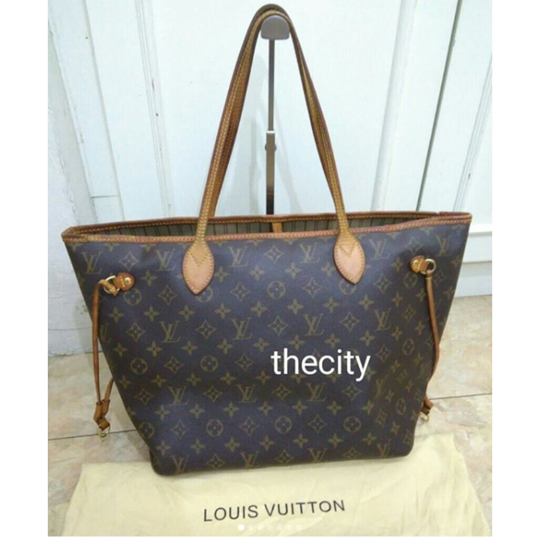 bb7ef839a412 AUTHENTIC LOUIS VUITTON NEVERFULL MM - MONOGRAM CANVAS - WITH ...