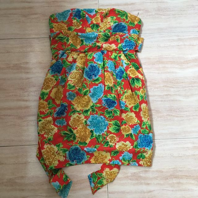 d131496dd70 BRAND NEW Floral Tube Top Dress with tag