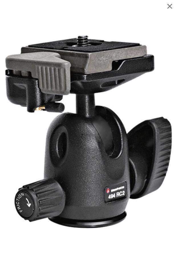 DSLR and Mirrorless camera tripod - Manfrotto MT190CX3 Carbon Fiber Tripod + 494 RC2 ball head