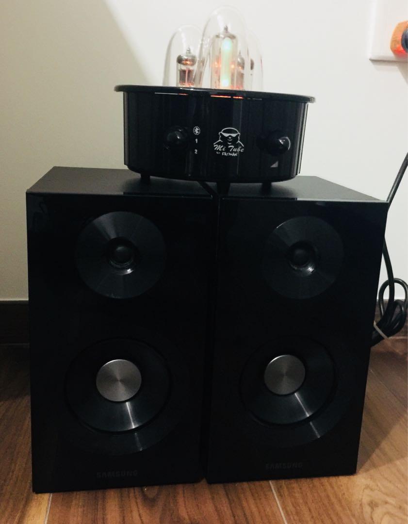 Fatman MI Tube Valve Amplifier W Samsung Bookshelf Speakers Electronics Audio On Carousell