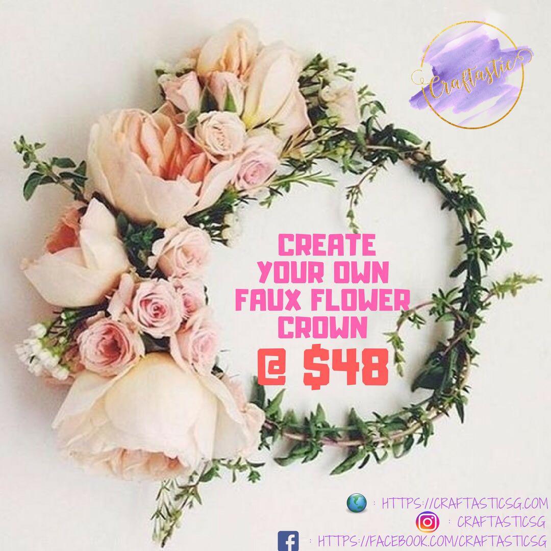 Faux flower crown making workshop design craft handmade craft on photo photo photo izmirmasajfo
