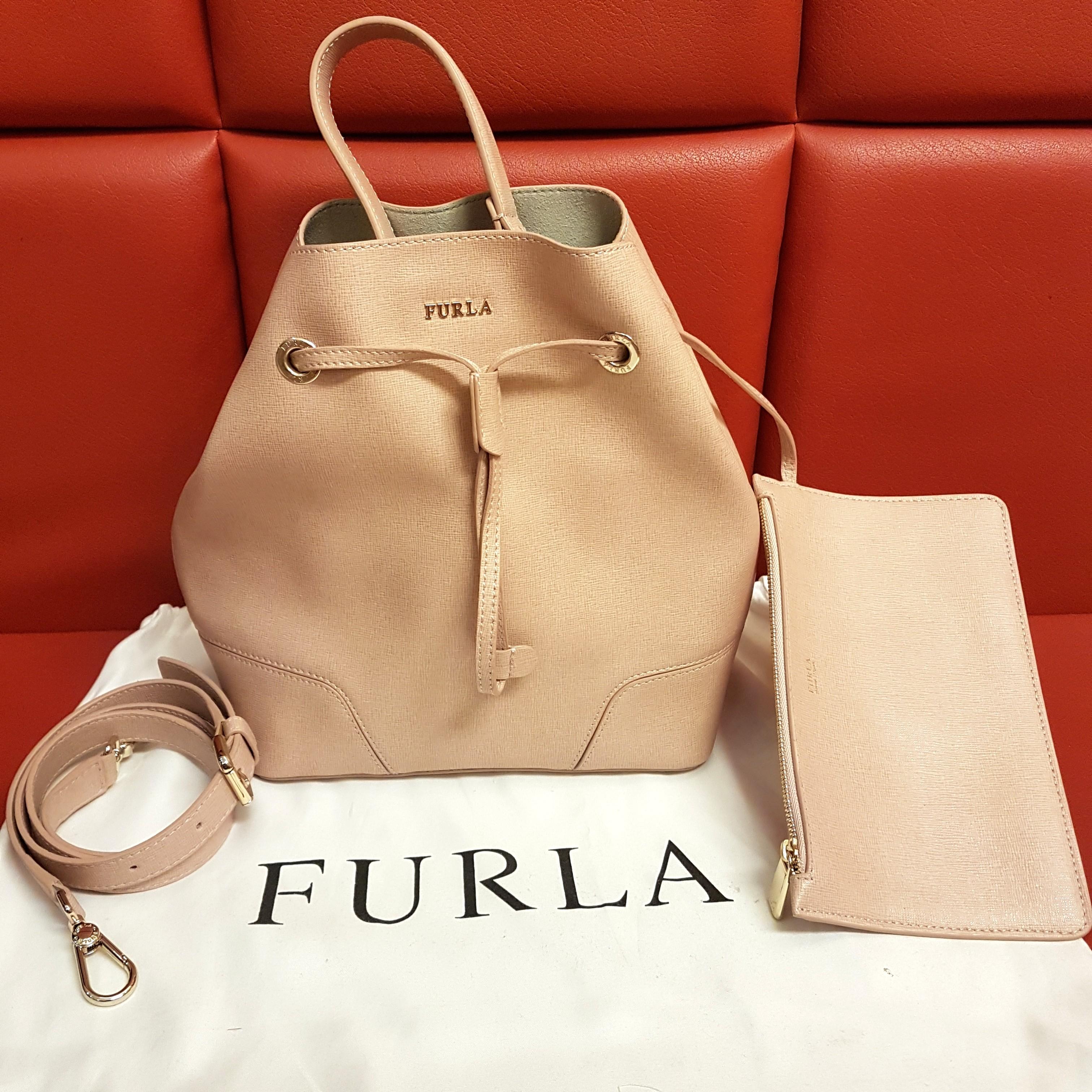 aacca644ed Furla Stacy Small Saffiano Drawstring Bucket Bag