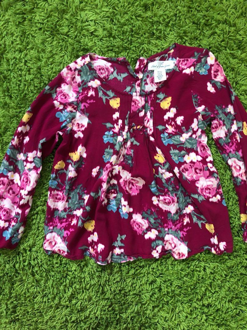 da4d51b6dbc4d H&M Floral Blouse for Girls , Babies & Kids, Girls' Apparel, 4 to 7 ...