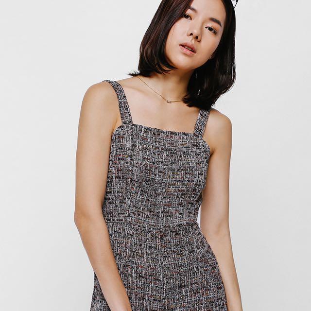 7835824199e Love Bonito Size M Bnwt Jalym Tweed Jumpsuit