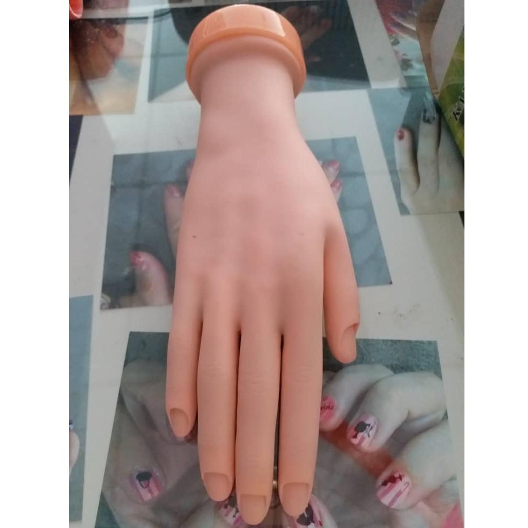Nail Art Beginner Practice Hand Model Rubber Fake Hand Left Hand ...