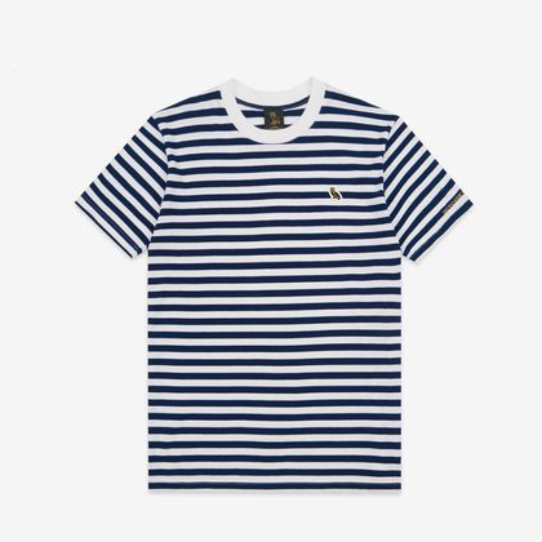 OVO October's Very Own Owl Patch Tee (Blue/White Stripes)