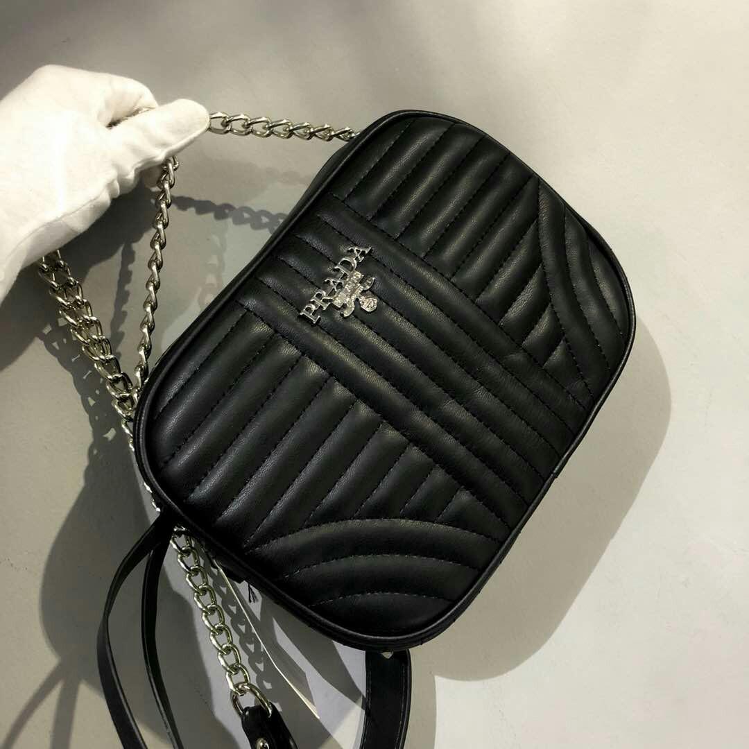 0a664951ca Prada Diagramme Crossbody Bag Black, Luxury, Bags & Wallets on Carousell