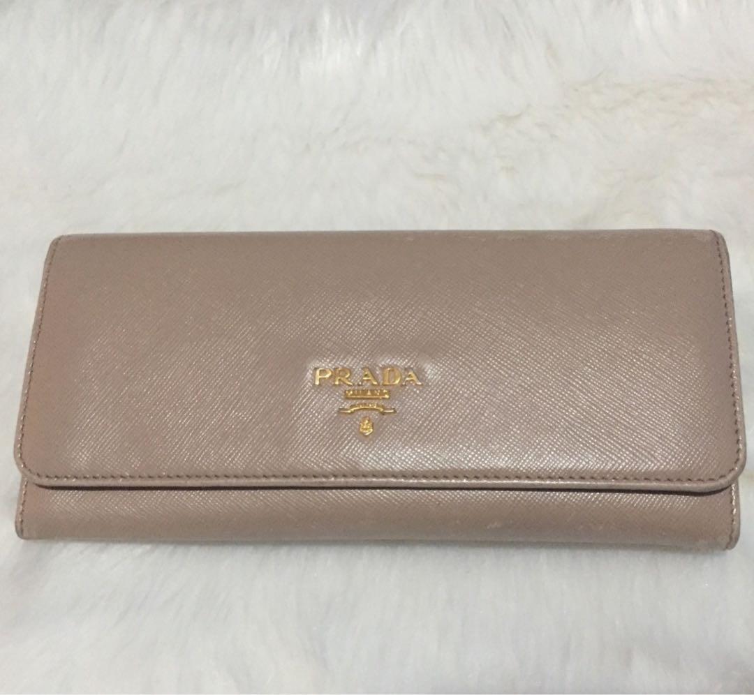 3432032636b8 Preloved Prada Saffiano Multic Leather long fold wallet