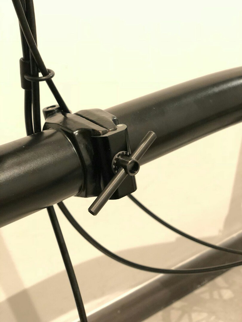 Titanium hinge clamp levers for brompton adjustable lever offset