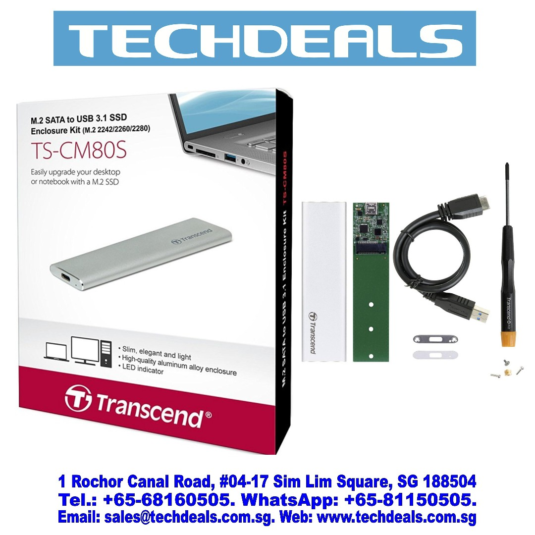 Transcend TS CM80S M2 SATA To USB 31 SSD Enclosure Electronics Computer Parts Accessories On Carousell